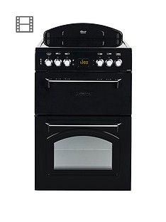 leisure-cla60cek-60cm-electric-classic-mini-range-cooker-with-connection-black
