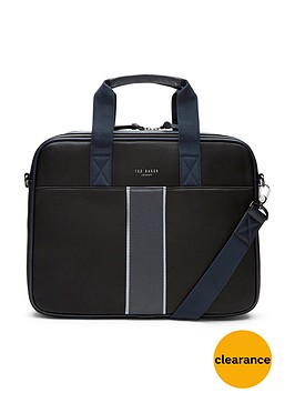 ted-baker-striped-webbing-document-bag