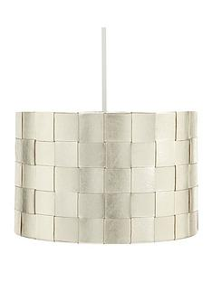 metallic-woven-easy-fit-lamp-shade