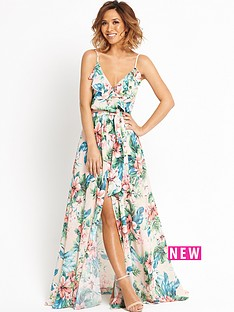 myleene-klass-ruffle-front-floral-maxi-dress