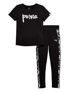 puma-older-girls-foil-print-t-shirt-and-leggings-set