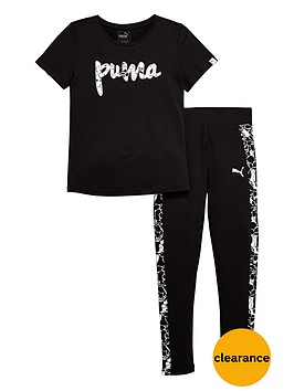 puma-older-girls-foil-print-t-shirt-and-leggings-set