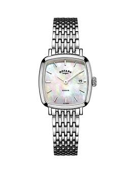 rotary-rotary-windsor-cushion-stainless-steel-mesh-bracelet-ladies-watch