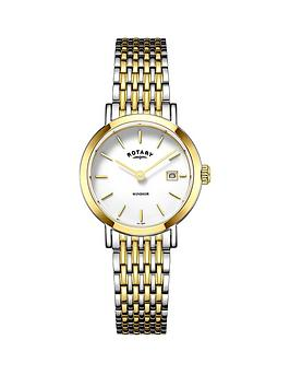 rotary-windsor-white-dial-two-tone-bracelet-ladies-watch