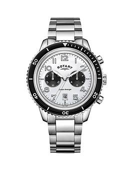 rotary-rotary-ocean-avenger-white-dial-chronograph-stainless-steal-mens-watch