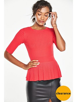 v-by-very-peplum-knit-jumper