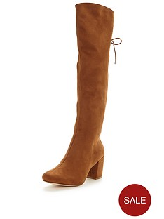 v-by-very-poppy-lace-up-back-knee-high-boots-tan