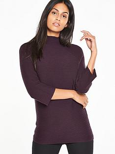 v-by-very-funnel-neck-compact-knit-jumper