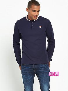 fila-fila-baseball-collar-long-sleeve-polo