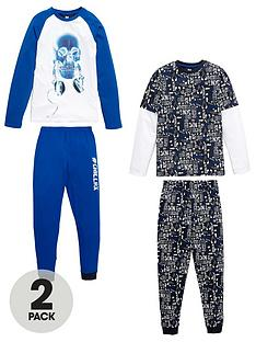 v-by-very-boys-skull-glow-in-the-dark-pyjamas-2-pack