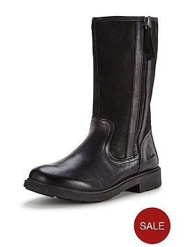 clarks-girls-inesnbspleather-rain-bootsbr-br-width-sizes-available