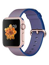 Watch Sport 38mm Rose Gold Aluminium Case with Royal Blue Woven Nylon