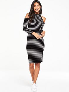 v-by-very-cut-out-shoulder-skinny-rib-dress