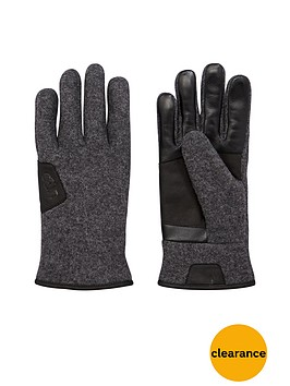 ugg-smart-glove-with-leather-trim