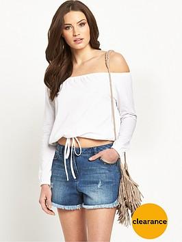 v-by-very-tie-waist-long-sleeve-bardot-top