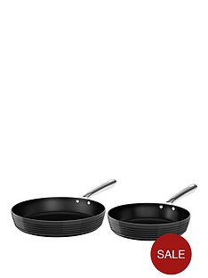 tower-linear-24cm-and-28cm-ceramic-coated-fry-pan-set-black