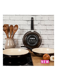 tower-tower-24cm-porcelain-enamel-fry-pan-with-cream-non-stick-coating