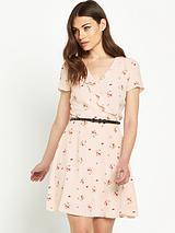 Frill Printed Dress