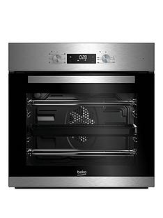 beko-bie22300xd-60cm-built-in-electric-single-oven-with-optional-connection-stainless-steel