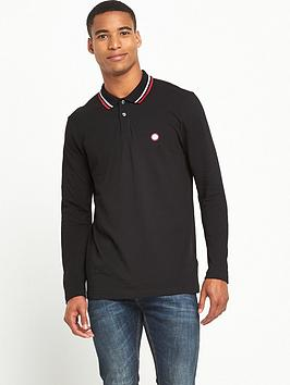 pretty-green-twin-tip-long-sleeved-polo