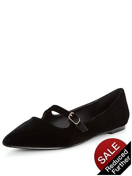 v-by-very-florence-velvet-point-flat-shoes-black