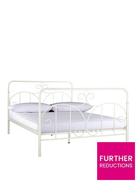 ashleigh-metal-bed-frame-with-optional-mattress-ivory