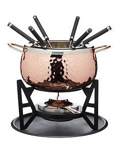 master-class-artesagrave-copper-finish-fondue-set