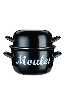 world-of-flavours-mediterranean-enamelled-18cm-steel-mussel-pot