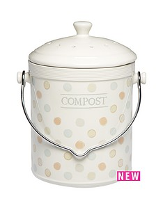 classic-collection-ceramic-composter-with-charcoal-filter-4-litres