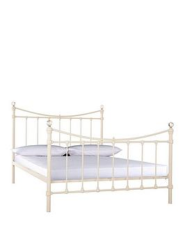 Ruby Metal Bed Frame With Mattress Options (Buy And Save!) - Bed Frame With Microquilt Mattress
