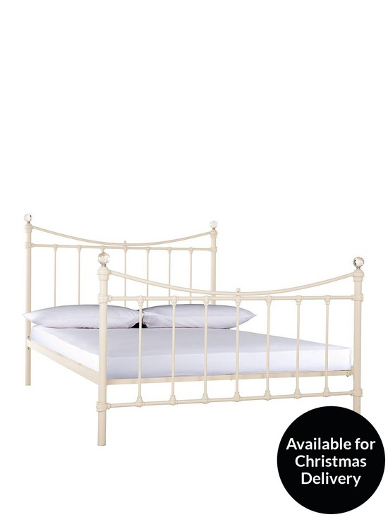 Ruby Metal Bed Frame with Mattress Options (Buy and SAVE!)   very.co.uk