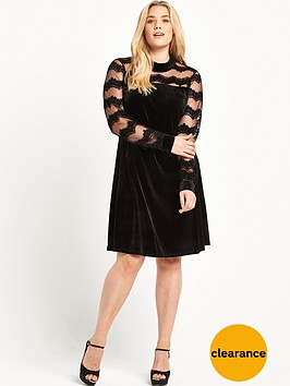 junarose-high-neck-velvet-dress-black