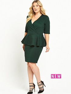 junarose-peplum-dress-green