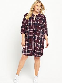junarose-check-print-shirt-dress
