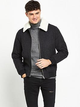 river-island-checked-borg-collar-jacket