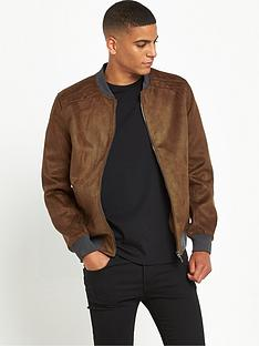 river-island-suedette-bomber-jacket