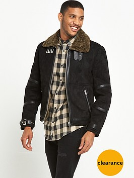 river-island-shearling-suedette-flight-jacket