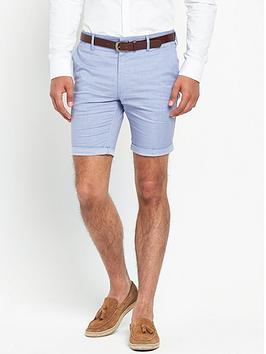 river-island-slim-fit-belted-shorts