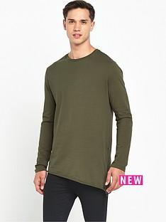 river-island-asymmetric-long-sleeve-zip-side-t-shirt