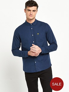 lyle-scott-marl-flannel-shirt