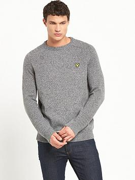 lyle-scott-crew-neck-links-detail-jumper
