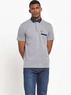 lyle-scott-check-woven-collar-polo