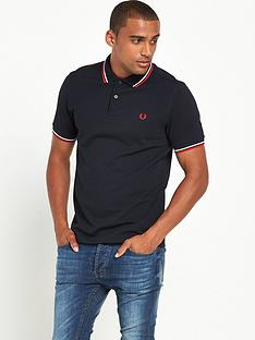 fred-perry-original-twin-tipped-polo-shirtnbsp--navy