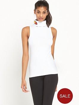 ellesse-vera-roll-neck-sleeveless-t-shirt