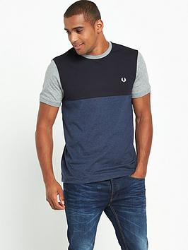 fred-perry-marl-colour-block-t-shirt