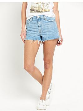 river-island-ripped-high-waisted-denim-short