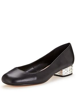 dune-bijoux-leather-ballerina-black