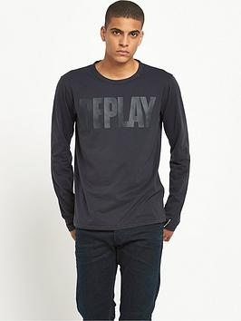 replay-logo-long-sleeve-t-shirt