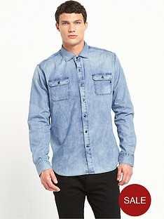 replay-two-pocket-denim-shirt