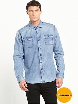 replay-two-pocket-denim-shirt